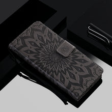 Load image into Gallery viewer, Embossed Sunflower Wallet Phone Case For Samsung S20 Ultra