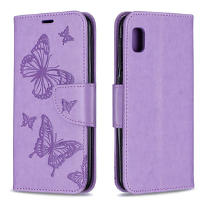 2020 Embossed Butterfly Pattern Flip Phone Case For Samsung Galaxy A10e