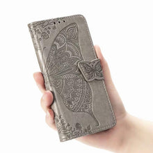 Load image into Gallery viewer, 2021 Luxury Embossed Butterfly Leather Wallet Flip Case for LG