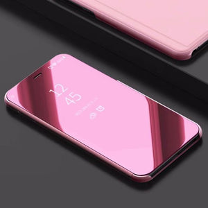 Luxury Flip Protection Full Screen Smart Window Cover Case For Samsung