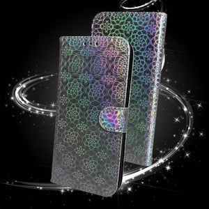 Luxury Shining Sequin Wallet Case For Samsung