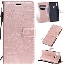 Load image into Gallery viewer, 2021 Upgraded 3D Embossed Butterfly Wallet Phone Case For Samsung A10S