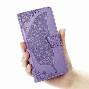 【BIG SALE】2021 Luxury Embossed Butterfly Leather Wallet Flip Cover for LG Stylo 4