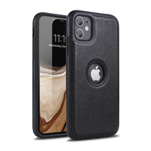 Load image into Gallery viewer, Luxury Leather Back Case For iPhone Shockproof Case With 9H Full-Screen Tempered Glass