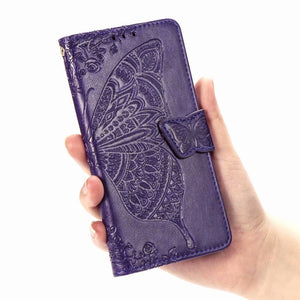 New Luxury Embossed Butterfly Leather Wallet Flip Case for IPHONE X/XS
