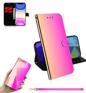 2020 New Mirror Surface Leather Wallet Case For HUAWEI