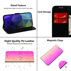 2020 Mirror Surface Leather Wallet Case For MOTO