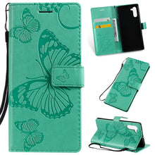 Load image into Gallery viewer, 2021 Upgraded 3D Embossed Butterfly Wallet Phone Case For Samsung Note 10