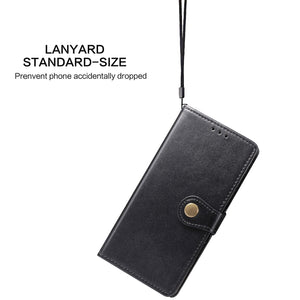 New Luxury Round Buckle Wallet Phone Case For Samsung A71 4G / A71 5G
