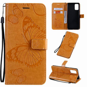 【Big Sale】2021 Upgraded 3D Embossed Butterfly Wallet Phone Case For Samsung A71
