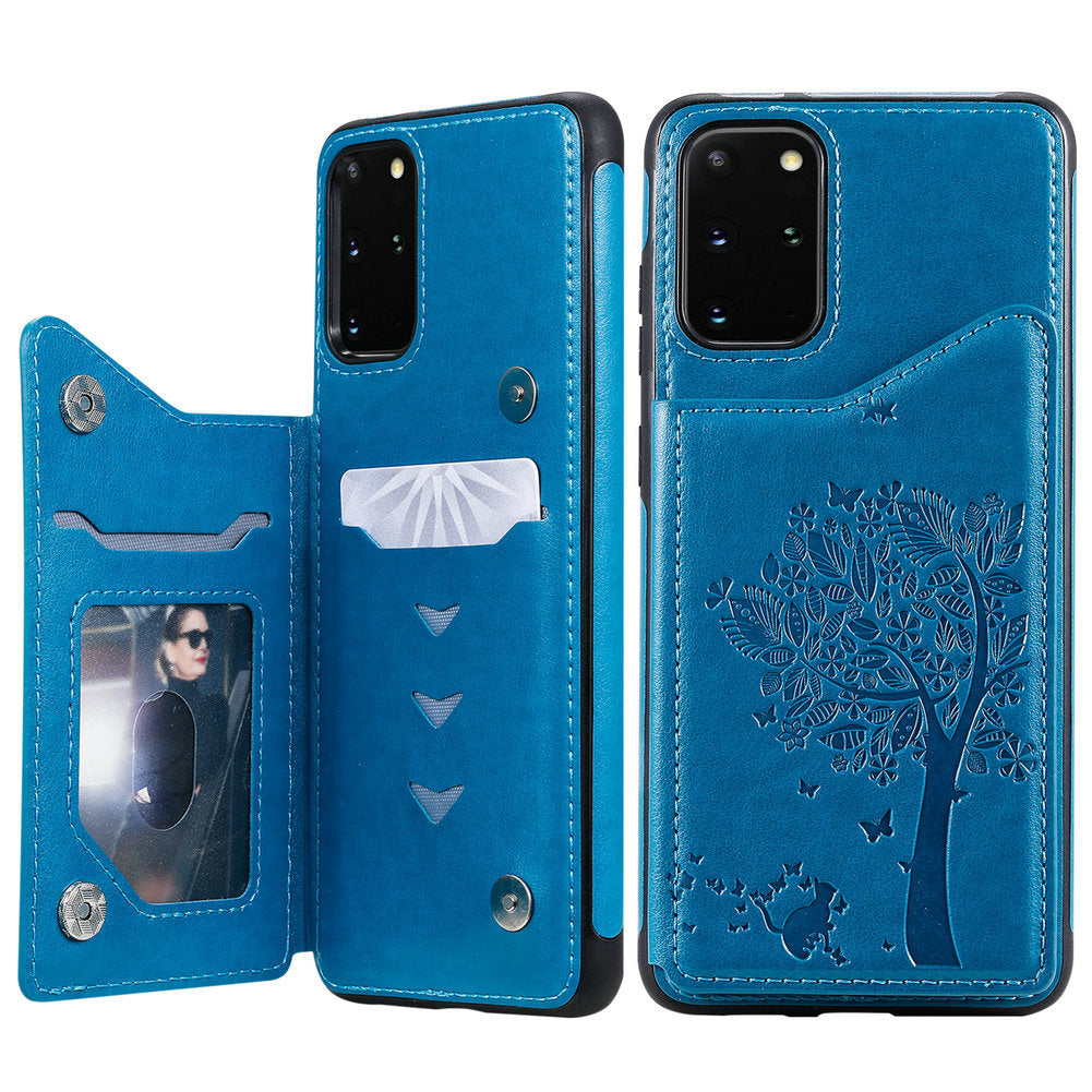2020  Luxury 3D Tree Wallet Case For SAMSUNG Note Series