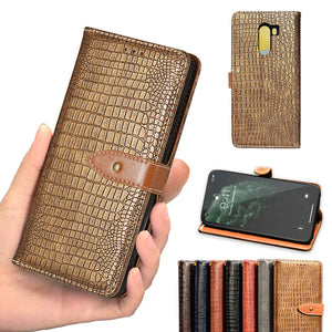 New Crocodile Pattern Creative Wallet Phone Case For Samsung A Series
