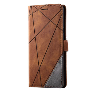 2021 Upgraded Stripe Rhombus Wallet Phone Case For Samsung S Series