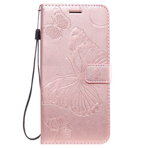 2021 Upgraded 3D Embossed Butterfly Wallet Phone Case For Samsung Note 20 Ultra
