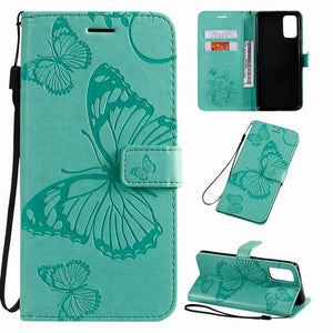 2021 Upgraded 3D Embossed Butterfly Wallet Phone Case For Samsung A51