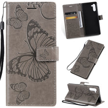 Load image into Gallery viewer, 3D Embossed Butterfly Wallet Phone Case For Samsung Note 10