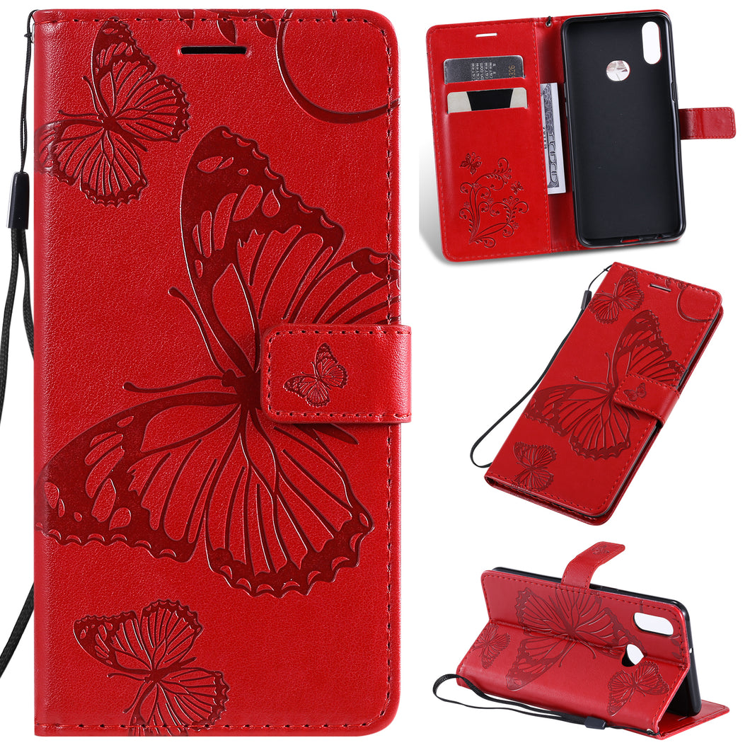 2021 Upgraded 3D Embossed Butterfly Wallet Phone Case For Samsung A10S