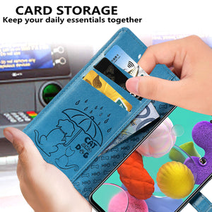2020 New Cartoons Leather Slim Flip Wallet Phone Case For Samsung A21S