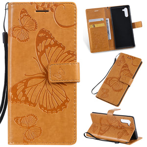 2021 Upgraded 3D Embossed Butterfly Wallet Phone Case For Samsung Note 10