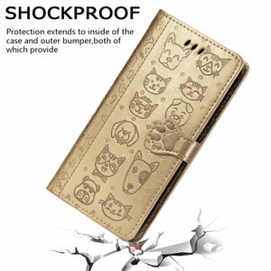 2020 New Cartoons Leather Slim Flip Wallet Phone Case For Samsung A Series