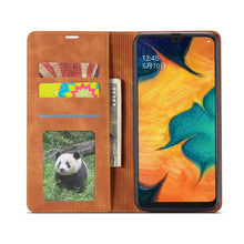 Load image into Gallery viewer, Luxury Leather Flip Wallet Case Cover For Samsung Galaxy A20