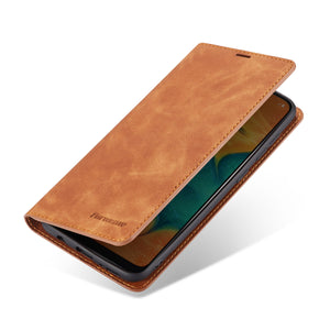 Luxury Leather Flip Wallet Case Cover For Samsung Galaxy A20