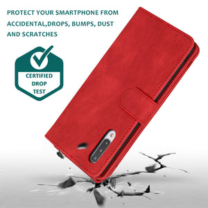 Luxury Skin Feel Multi-card Zipper Leather Case For Samsung A50