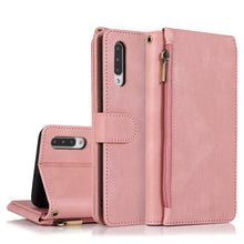 Load image into Gallery viewer, Luxury Skin Feel Multi-card Zipper Leather Case For Samsung A50