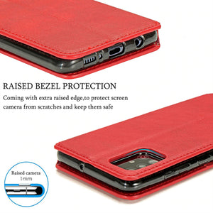 Magnetic Leather Flip Wallet Phone Case For Samsung A Series