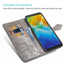 Load image into Gallery viewer, 2021 Luxury Embossed Mandala Leather Wallet Flip Case for LG Stylo 5