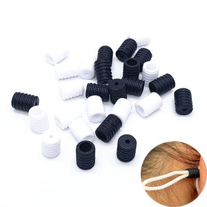 Thread Button Drawstrings Elastic Cord Adjuster Non Slip Stopper