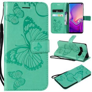 2021 Upgraded 3D Embossed Butterfly Wallet Phone Case For Samsung S10 4G