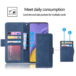 Luxury Multi-Card Slots Wallet Flip Cover For Samsung A21 (US/EU Version)