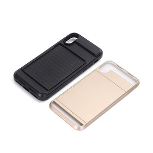 New Slide Card Slot Holder Case For iPhone
