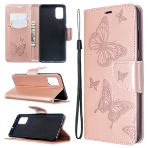 2020 Embossed Butterfly Pattern Flip Phone Case For Samsung Galaxy A51