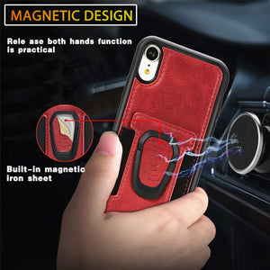 New Card Magnetic Ring holder phone Case For IPHONE