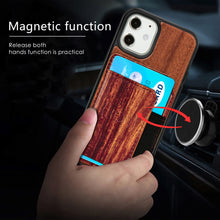 Load image into Gallery viewer, Natural Real Wood Card Phone Case For iPhone