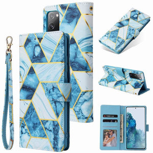 Marble Pattern  Wallet Flip Case For Samsung S20 FE