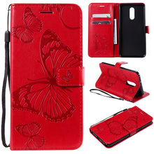 Load image into Gallery viewer, 3D Embossed Butterfly Wallet Phone Case For LG Stylo 5