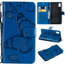 Load image into Gallery viewer, 2021 Upgraded 3D Embossed Butterfly Wallet Phone Case For iPhone XR