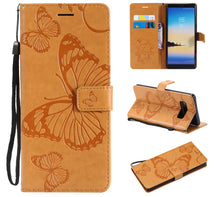 Load image into Gallery viewer, 2021 Upgraded 3D Embossed Butterfly Wallet Phone Case For Samsung Note 8