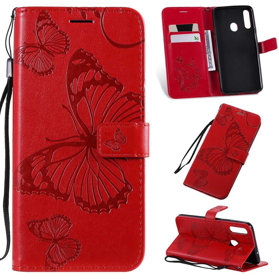2021 Upgraded 3D Embossed Butterfly Wallet Phone Case For Samsung A20S