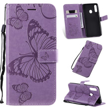 Load image into Gallery viewer, 2021 Upgraded 3D Embossed Butterfly Wallet Phone Case For Samsung A20S