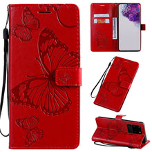 Load image into Gallery viewer, 2021 Upgraded 3D Embossed Butterfly Wallet Phone Case For Samsung S20 Ultra