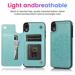 2020 New Style Luxury Wallet Cover For iPhone XR