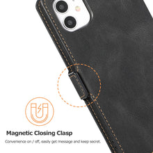 Load image into Gallery viewer, 2020 Retro Clamshell Leather Case for iPhone