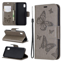 Load image into Gallery viewer, 2020 Embossed Butterfly Pattern Flip Phone Case For Samsung Galaxy A10e
