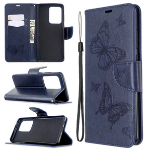 2020 Embossed Butterfly Pattern Flip Phone Case For Samsung Galaxy S20ultra