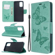 Load image into Gallery viewer, Embossed Butterfly Pattern Flip Phone Case For Samsung Galaxy S20+