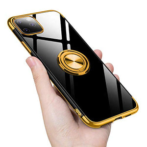 2020 Transparent Colorful Magnetic Ring Holder Phone Case For iPhone XR Case